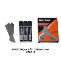 Maket Bıçak Ağzı Geniş 0.3 mm Knitex KTX-510
