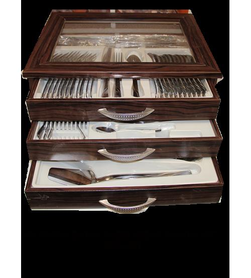 90 Parça Çatal Kaşık Bıçak Seti Sandıklı Lale Model GÜN-061